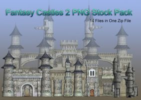 Fantasy Castles 2 PNG Stock Pack by Roy3D