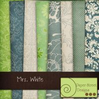 mrs white-paper street designs by paperstreetdesigns