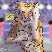 tiger wrestling by SueaNoi