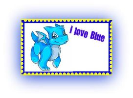 Blue fave. character stamp by xStarFireTheWolfonx