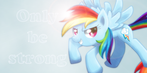 Rainbow Dash Sign - To my Friend by Gifashion