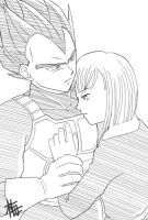 Vegeta and Bulma 2 by Ume-Sakura