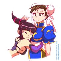 Street Fighter's Juri And Chun-li by dan-heron