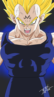 Vegeta M Key Drawing with colors by brianb3x