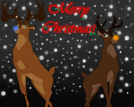 The Coop Deer - Merry Christmas Bros by BosBaBe