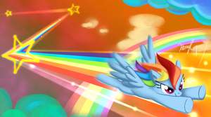 Rainbow Dashing by HoneyL17