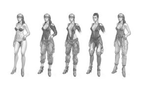 Female mechanic - character study by Utas