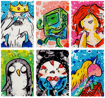 Sample Adventure Time ATC. by drawingsbynicole