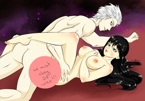 [Hentai Commission]: Vergil's bitch by ShiningShadow