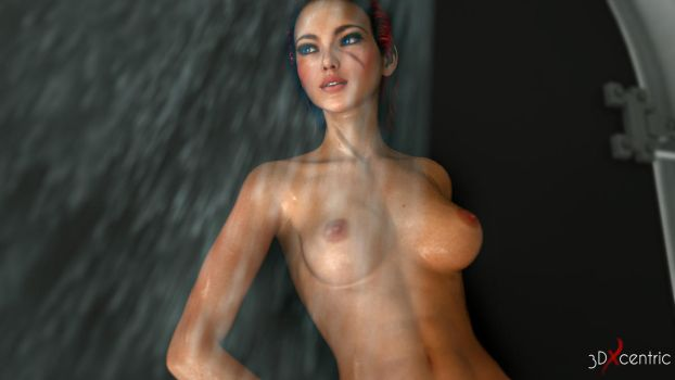 Kira Carsen - Shower by 3DXcentric