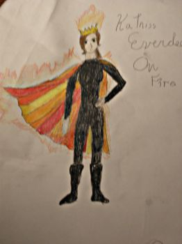 Katniss on Fire by Cindyfred