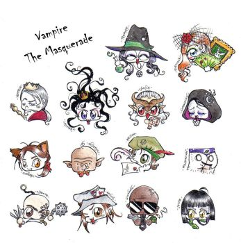 +VTM+clan chibis by GothDream