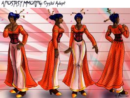 Crystal Adept Model Sheet by jekylnhyde