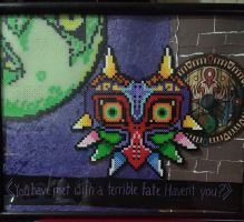 Framed Clocktown Perler by ZanderYurami