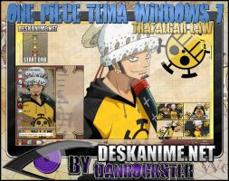 Trafalgar Law Theme Windows 7 by Danrockster