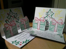Holiday Card Project: Pop up cards! by TheButterfly