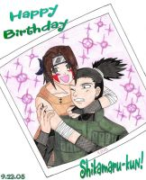 Happy Birthday Shikamaru-kun by zoro4me3