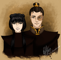 Mai and Zuko by lerielos