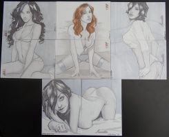 Female Persuasion and Suzette Sketch Cards by grover80