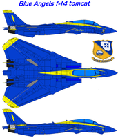 Blue Angels f-14 by bagera3005