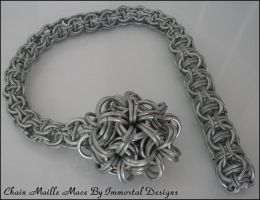 Chain Maille Mace by immortaldesigns