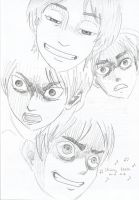 SnK:Eren The Master of Mad Faces by REMAINfaithful