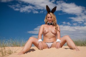 Curl Curl Easter Bunny: Topless #2 by KimCums