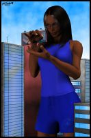 Gentle City Giantess by blcksheep