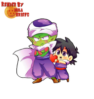 Gohan and Piccolo by MilaBriefs