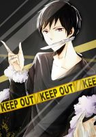 iphone bg-trapped Izaya by Kuri-Nii
