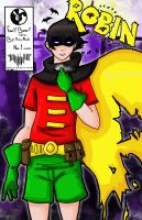 Robin at Gotham City chaos by ruzovymonster