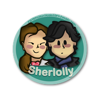 Sherlolly Shipping Button by RavenclawHobbit