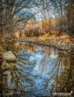 Reflections on a Still River HDR by mjohanson