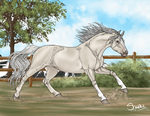 First horse to 400 kaaring by ShapeShifter314