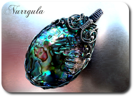 Aurora - paua shell and silver by nurrgula