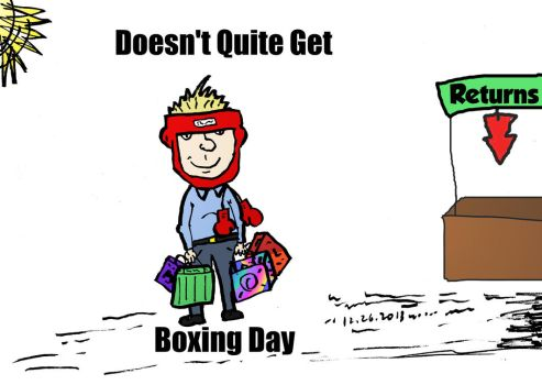 Boxing Day fail comic by optionsclickblogart