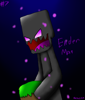 Creepypasta #7 EnderMan + Speedpaint by CreepypastaGirl1001