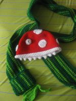 Piranha Plant Hat and Pipe Scarf by madXXteaparty