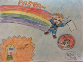 Nyan Cat-like Italy XD by MintFrost12