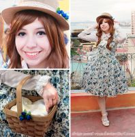 Blue roses ~ Country Lolita outfit by Chise-Sweet-Rose