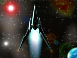 Arwing in action by gamios