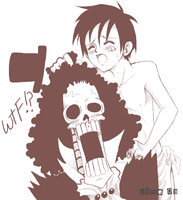 Brook X Luffy - WTF by thegreatlimechan