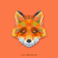 Triangle Fox (Vector) by HundredMelanie