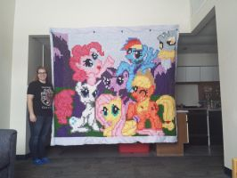 MLP: Friendship is Magic Quilt by underhand-flyer