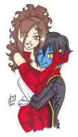 X Men: Wanda and Kurt by AnimeJanice