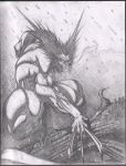 wolverine in the snow sketch by VASS-comics
