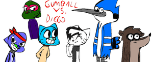 Gumball vs. Diego New Cover by LotusTheKat