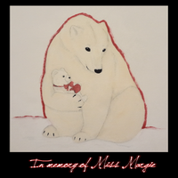 Polar bear painting March 18 12 by CherrySapphire