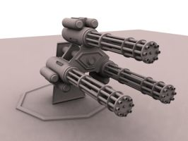 Triple Minigun by tonelessfuture