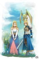 Reis and Agrias by erek80